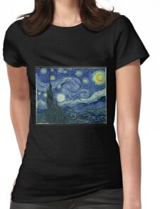 Vincent Van Gogh - The Starry night  Womens Fitted T-Shirt