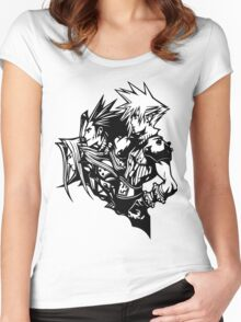 Sephiroth, Zack and Cloud Women's Fitted Scoop T-Shirt