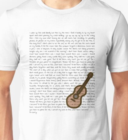 Ode to Sleep lyrics with uke Unisex T-Shirt