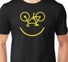 Bicycle Smiley Unisex T-Shirt