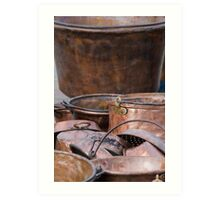 old pots and pans Art Print