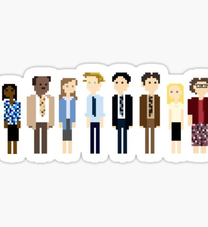 Office Pixel Cast - 10 - Horizontal  Sticker