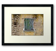 window of thw house Framed Print
