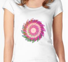 Flower in motion Women's Fitted Scoop T-Shirt