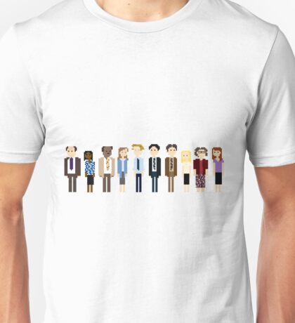 Office Pixel Cast - 10 - Horizontal  Unisex T-Shirt