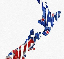 New Zealand Typographic Map Flag by A. TW