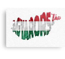 Hungary Typographic Map Flag Metal Print