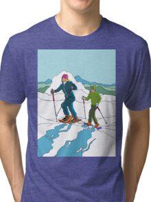 Snow-shoeing Tri-blend T-Shirt