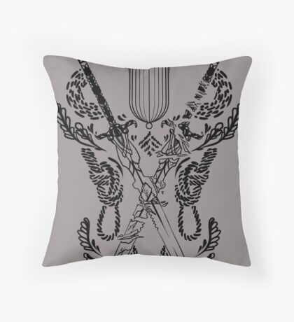 Sten companion tattoo Throw Pillow