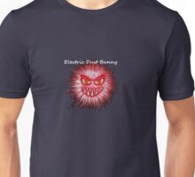 Electric Dust Bunny Red and Black Unisex T-Shirt