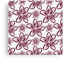 Floral abstract ornament graphic Canvas Print