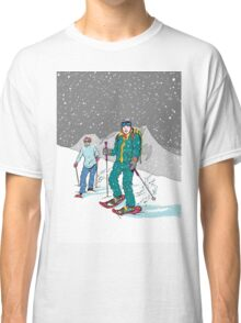 Snow-shoeing in the snow Classic T-Shirt