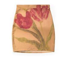 Purple Flowers Mini Skirt