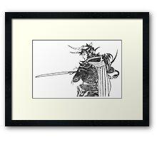 °FINAL FANTASY° Final Fantasy I B&W Logo Framed Print