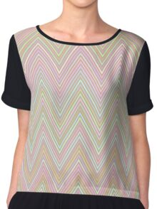 Abstract background with line Chiffon Top