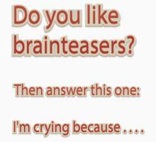 Do you like brainteasers? One Piece - Short Sleeve