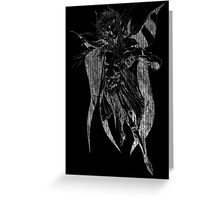 °FINAL FANTASY° Final Fantasy II B&W Logo Greeting Card