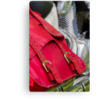 red leather bag Canvas Print