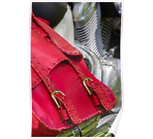 red leather bag Poster