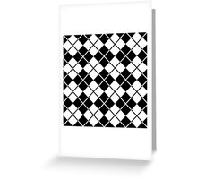 Plaid,tartan,black,white,modern,trendy,traditional,contemporary pattern Greeting Card