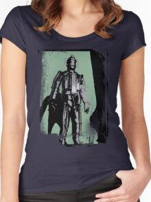 Cyberman (distressed) Women's Fitted Scoop T-Shirt