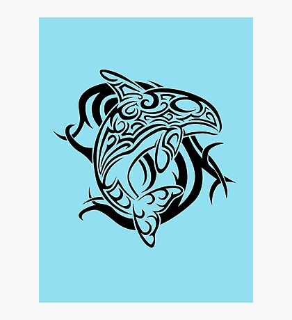 Tribal Orca Photographic Print