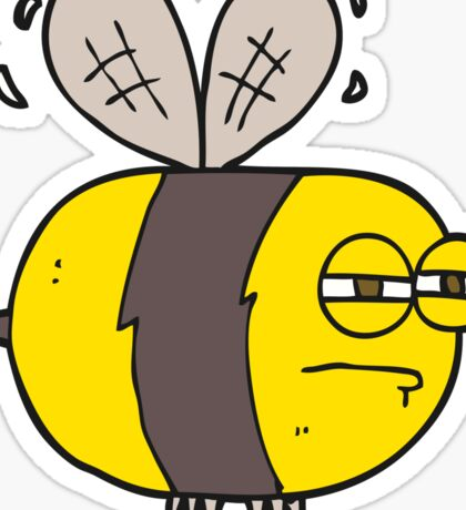cartoon unhappy bee Sticker