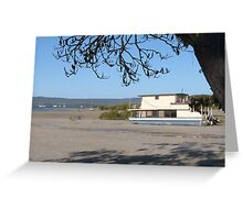 One of many Houseboats left on the Mud Flats! Tin Can Bay. Qld. Greeting Card