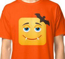 Dracula Vampire Bat Emoji Emoticon Smiley Face Classic T-Shirt