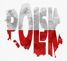 Poland Typographic Map Flag by A. TW