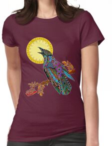 Electric Crow Womens Fitted T-Shirt