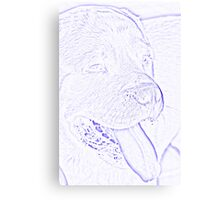 abstract dog Canvas Print