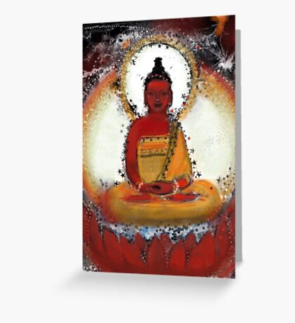 Amitabha - Red Buddha of the West Greeting Card