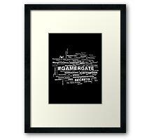 #GamerGate Framed Print
