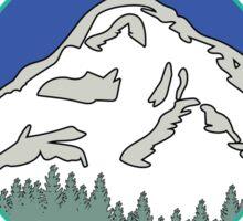 MOUNT WASHINGTON NEW HAMPSHIRE MOUNTAIN CLIMBING HIKING EXPLORE YELLOW Sticker