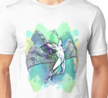ICARUS THROWS THE HORNS - light watercolor paint splotches NEW DESIGN Unisex T-Shirt