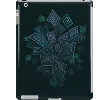 3D Psychedelic Square Spirals Explosion iPad Case/Skin