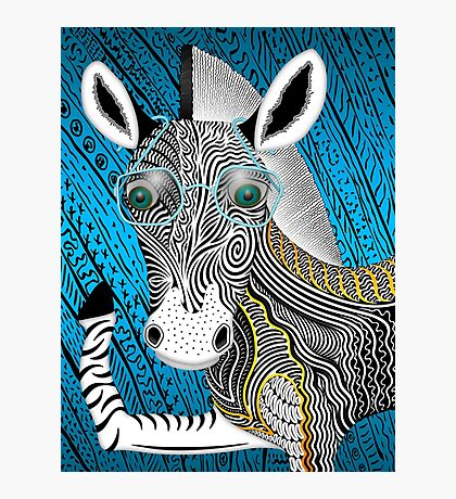 Portrait Of The Artist As A Young Zebra Photographic Print