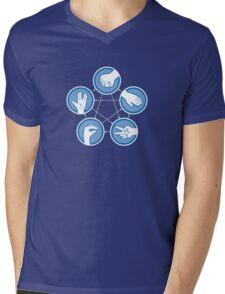 Rock Paper Scissors Lizard Spock Mens V-Neck T-Shirt
