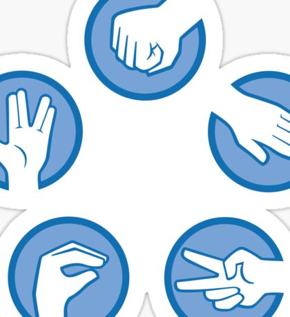 Rock Paper Scissors Lizard Spock Sticker
