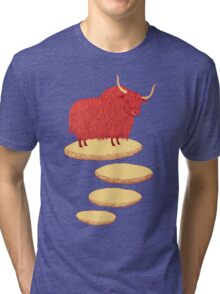 Yak and Stepping Stones Tri-blend T-Shirt