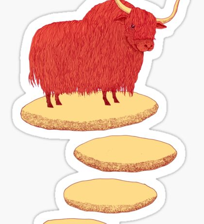 Yak and Stepping Stones Sticker