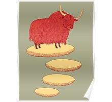 Yak and Stepping Stones Poster