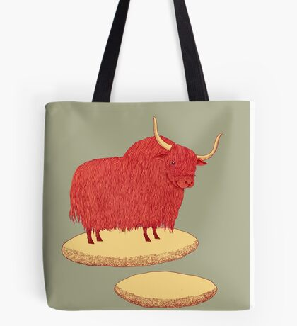 Yak and Stepping Stones Tote Bag