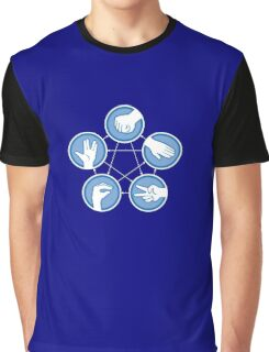 Rock Paper Scissors Lizard Spock Graphic T-Shirt