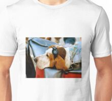 Lazy Dog with Aviator Cap and Goggles Unisex T-Shirt