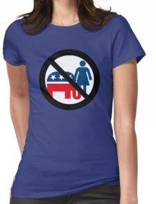 No No No Womens Fitted T-Shirt