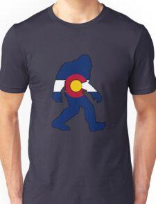 Colorado flag big foot yeti Unisex T-Shirt