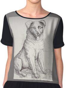 Australian Shepherd Dog Chiffon Top