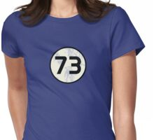73 Sheldon Distressed Womens Fitted T-Shirt